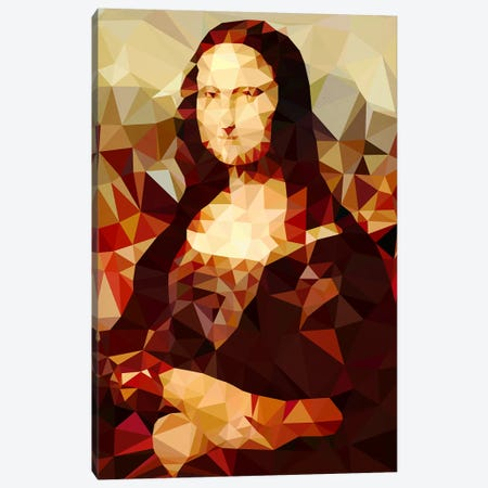 Mona Lisa Derezzed Canvas Print #DMS8} by 5by5collective Art Print