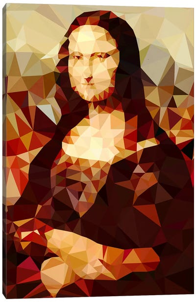 Mona Lisa Derezzed Canvas Art Print