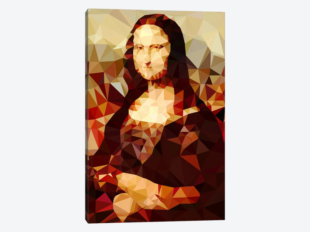 Mona Lisa Derezzed by 5by5collective 1-piece Canvas Print