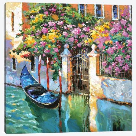 Lonely Gondola Canvas Print #DMT102} by Dmitry Spiros Canvas Art Print