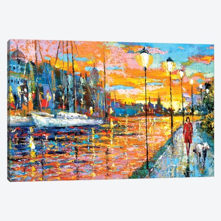 Magical Sunset Canvas Print #DMT104} by Dmitry Spiros Canvas Artwork