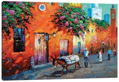 Mexican Caslle Canvas Art Print