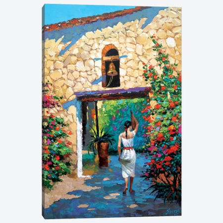Mexican Girl With Jug Canvas Print #DMT109} by Dmitry Spiros Canvas Print