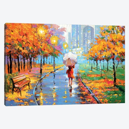 Autumn In The Big City II Canvas Print #DMT10} by Dmitry Spiros Art Print
