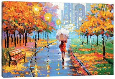 Autumn In The Big City II Canvas Art Print