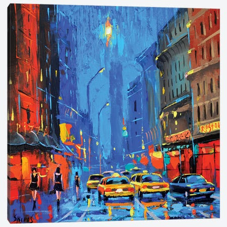 Moonlit Night Canvas Print #DMT112} by Dmitry Spiros Canvas Wall Art
