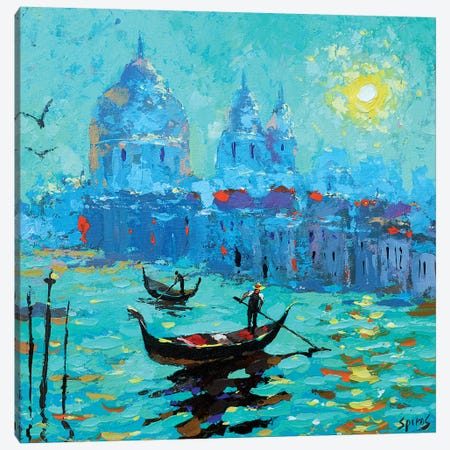 Morning In Venice I Canvas Print #DMT113} by Dmitry Spiros Canvas Wall Art