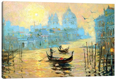 Morning In Venice II Canvas Art Print