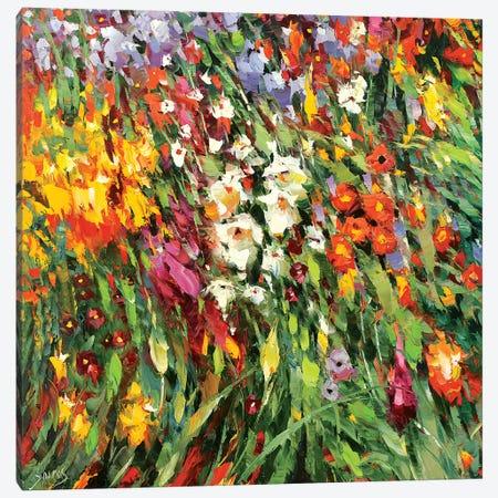 Mosaic Flowers I Canvas Print #DMT115} by Dmitry Spiros Canvas Print
