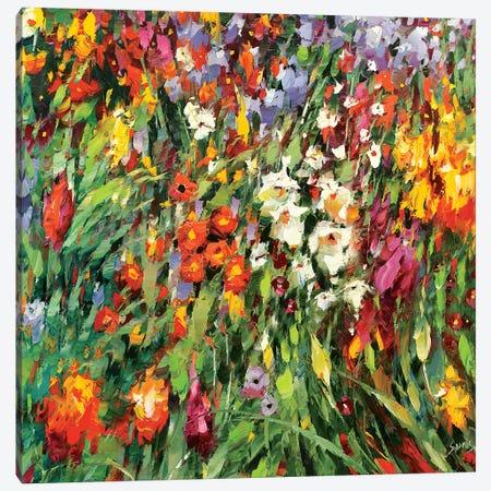 Mosaic Flowers II Canvas Print #DMT116} by Dmitry Spiros Canvas Art Print