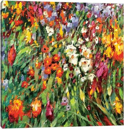 Mosaic Flowers II Canvas Art Print