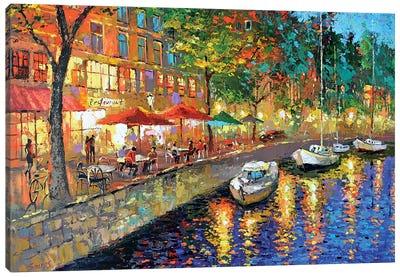 Night Cafe Cityscape Canvas Art Print