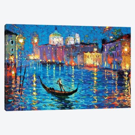 Night On A Venetian Canal Canvas Print #DMT126} by Dmitry Spiros Canvas Artwork