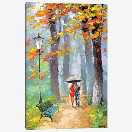 Autumn Kiss Canvas Print #DMT12} by Dmitry Spiros Art Print