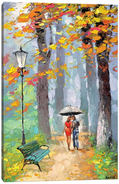 Autumn Kiss Canvas Art Print