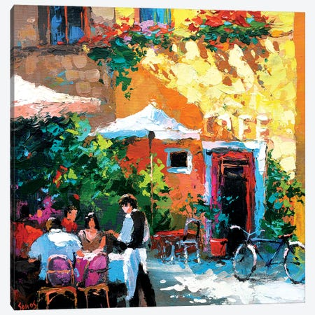 Old Tavern Canvas Print #DMT130} by Dmitry Spiros Canvas Artwork