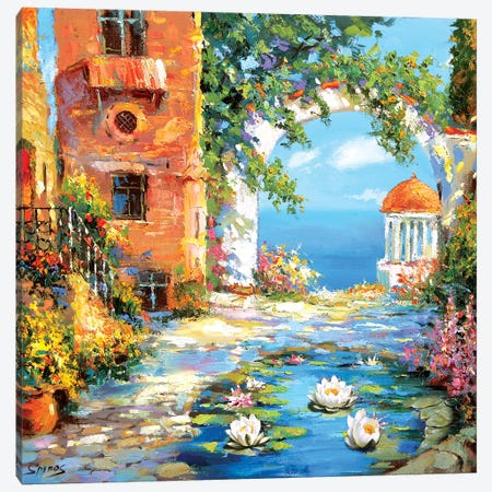 Old Yard Canvas Print #DMT131} by Dmitry Spiros Canvas Artwork