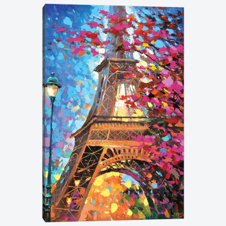 Paris Autumn Canvas Print #DMT136} by Dmitry Spiros Canvas Print