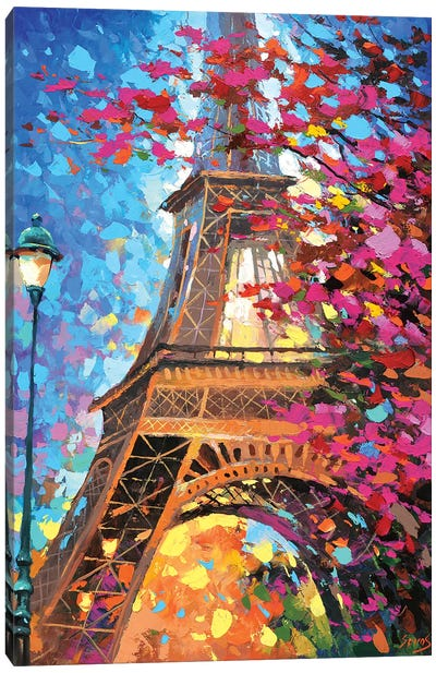 Paris Autumn Canvas Art Print