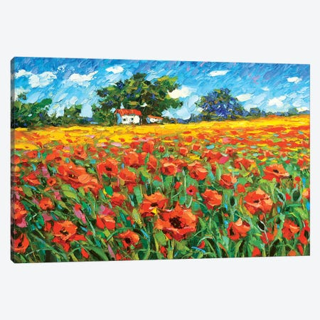 Poppies Afternoon Canvas Print #DMT141} by Dmitry Spiros Art Print