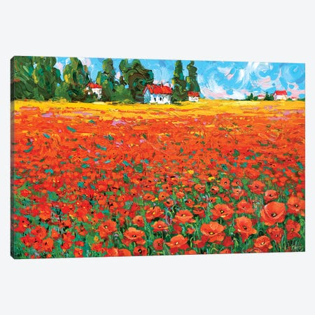 Poppy Field Canvas Print #DMT143} by Dmitry Spiros Art Print