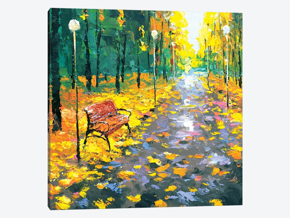 Rain Alley by Dmitry Spiros 1-piece Canvas Print