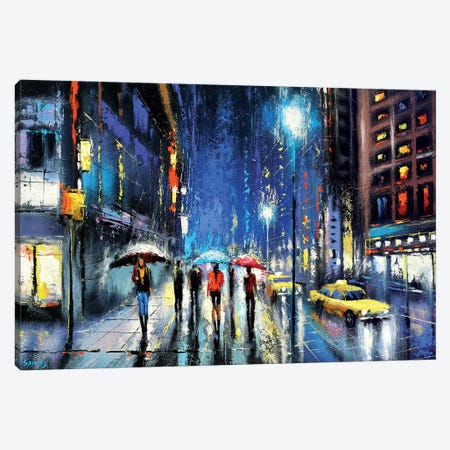 Rainy Night II Canvas Print #DMT148} by Dmitry Spiros Canvas Art Print