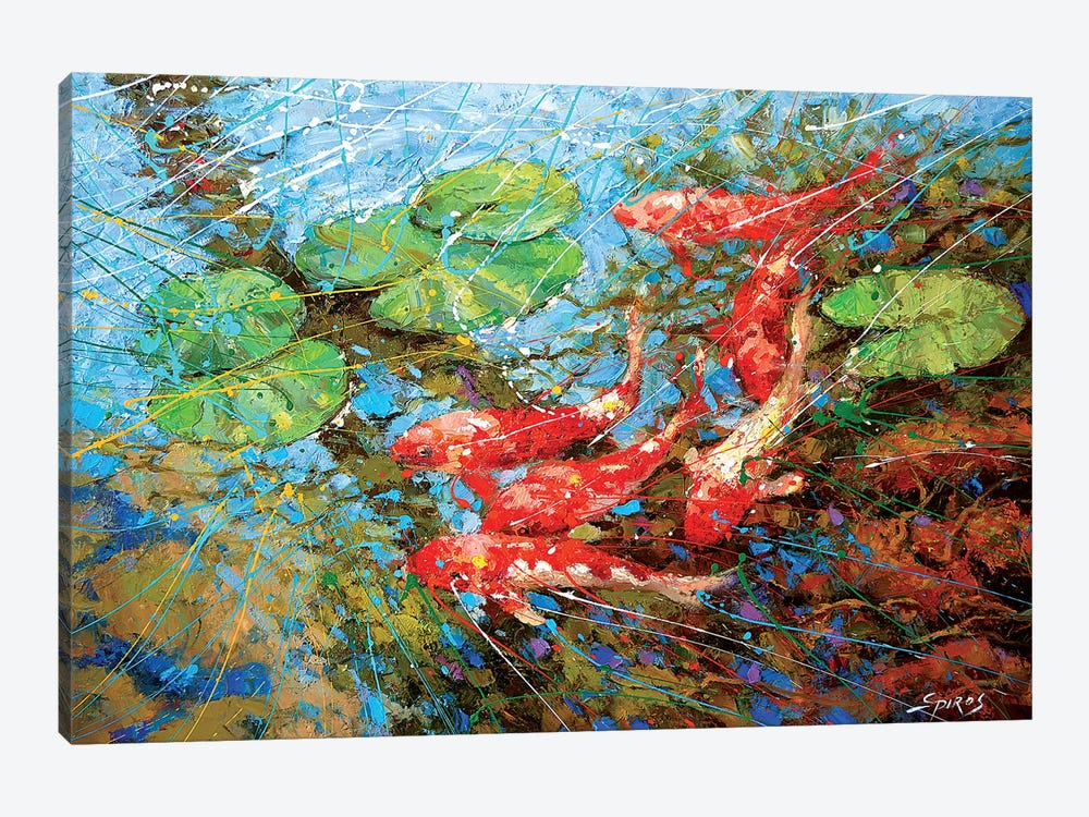 Red Fish by Dmitry Spiros 1-piece Canvas Wall Art