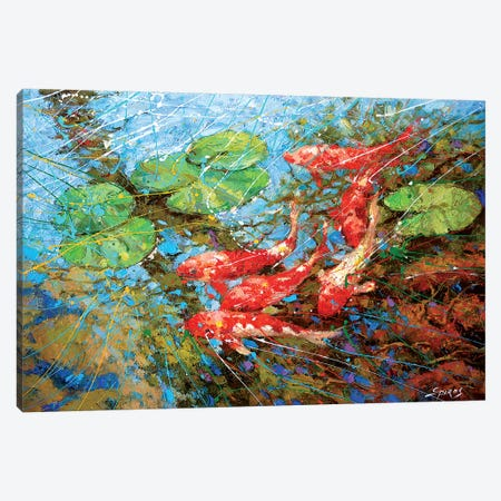 Red Fish Canvas Print #DMT149} by Dmitry Spiros Canvas Print