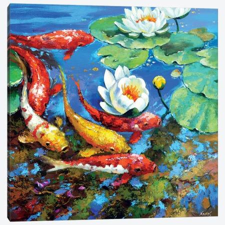 Reflection Fin Canvas Print #DMT152} by Dmitry Spiros Canvas Art
