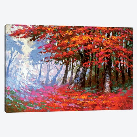 Scarlet Autumn Canvas Print #DMT158} by Dmitry Spiros Canvas Artwork