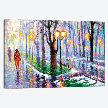 Spring Park Canvas Print #DMT163} by Dmitry Spiros Canvas Art Print