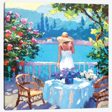 Summer Balcony Canvas Print #DMT164} by Dmitry Spiros Canvas Artwork