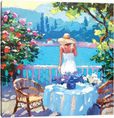 Summer Balcony Canvas Art Print