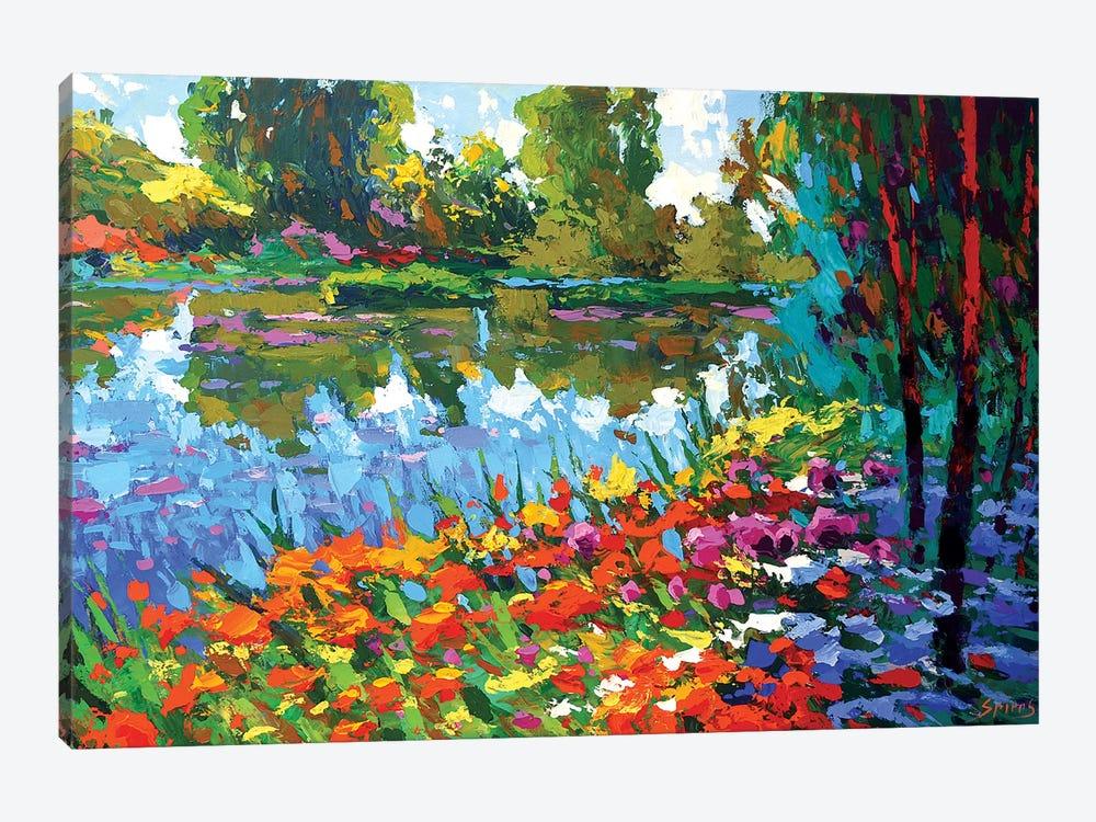 Summer Pond by Dmitry Spiros 1-piece Canvas Art Print
