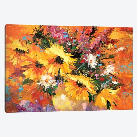 Sunflowers Canvas Print #DMT167} by Dmitry Spiros Canvas Art
