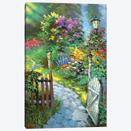 Sunrise In The Garden Canvas Print #DMT168} by Dmitry Spiros Art Print