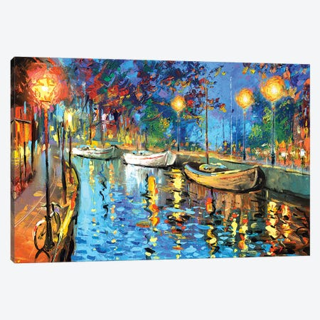 The Lights Of The Sleeping City Canvas Print #DMT172} by Dmitry Spiros Canvas Wall Art