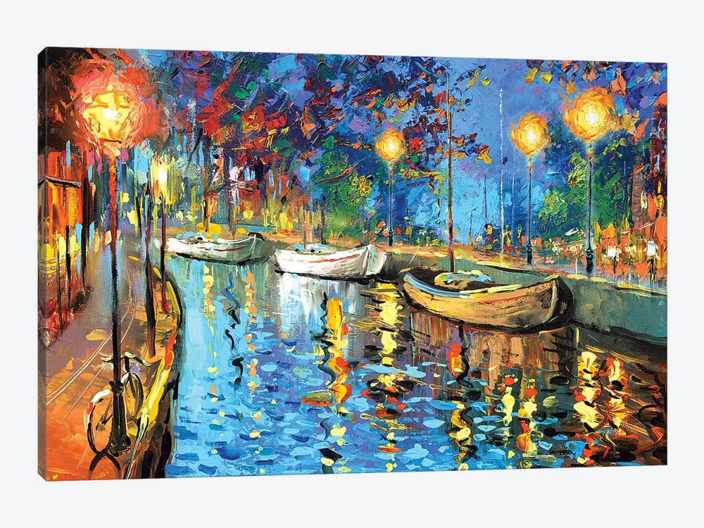 The Lights Of The Sleeping City by Dmitry Spiros 1-piece Canvas Wall Art