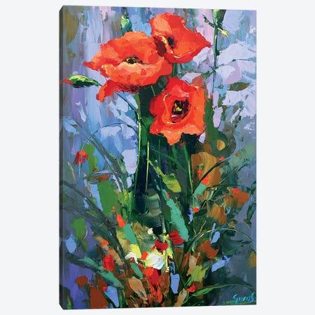 Three Poppies Canvas Print #DMT174} by Dmitry Spiros Canvas Art Print
