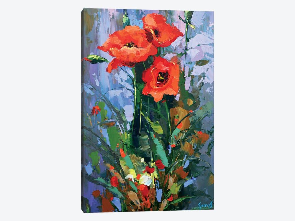 Three Poppies by Dmitry Spiros 1-piece Canvas Wall Art