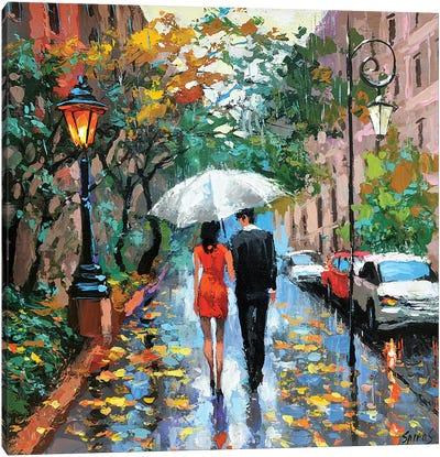 Today Is Rainy Canvas Art Print