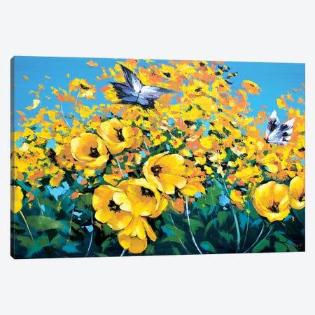 Two Butterflies Canvas Print #DMT176} by Dmitry Spiros Canvas Art Print