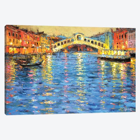 Venice In The Night Canvas Print #DMT181} by Dmitry Spiros Canvas Print