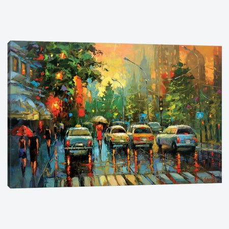 Warm Rain Canvas Print #DMT187} by Dmitry Spiros Canvas Art