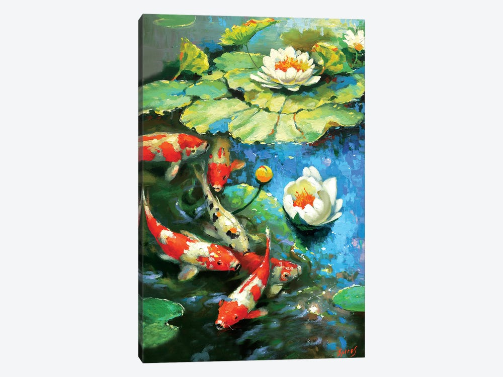 Water Lily - Sunny Pond I by Dmitry Spiros 1-piece Canvas Art Print