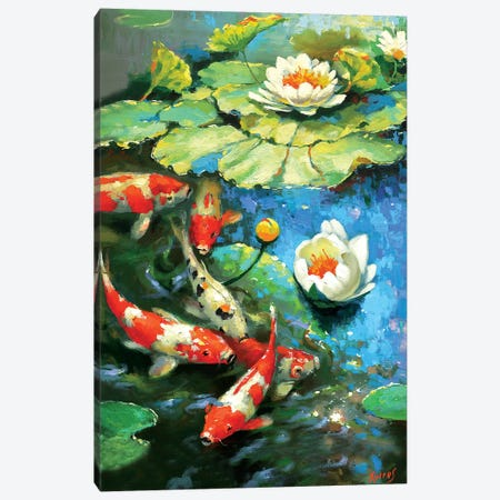 Water Lily - Sunny Pond I Canvas Print #DMT188} by Dmitry Spiros Art Print