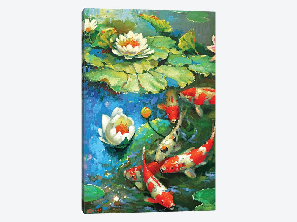 Water Lily - Sunny Pond II by Dmitry Spiros 1-piece Canvas Wall Art