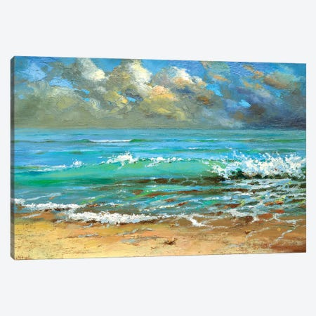 Waves Canvas Print #DMT191} by Dmitry Spiros Canvas Artwork
