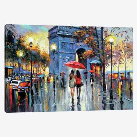 We Met In Paris Canvas Print #DMT192} by Dmitry Spiros Canvas Artwork